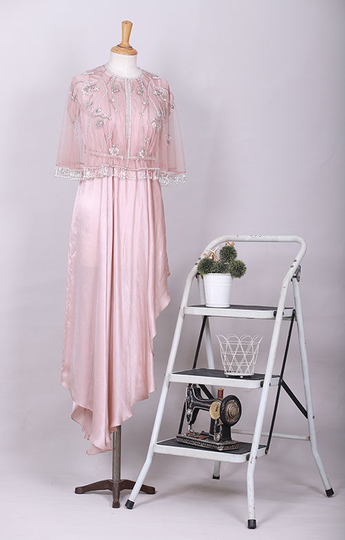 Rose-Gold Fashion Designer-Dress In Pakistan